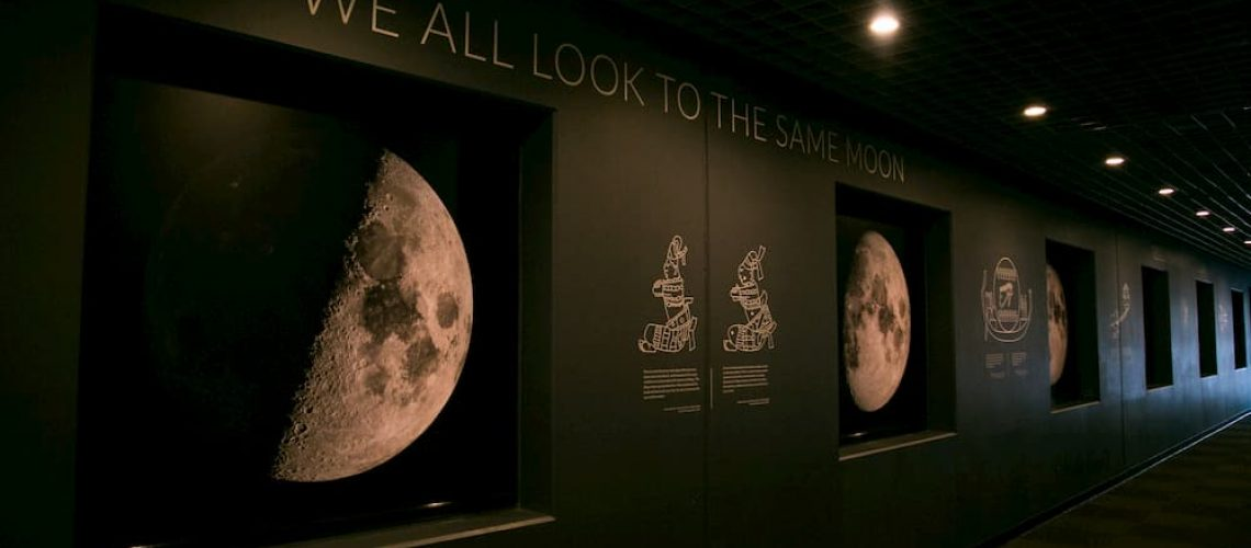 On OMSI exhibit showing phases of the moon